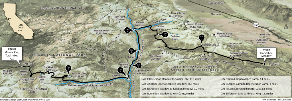 Sierra Hike Map
