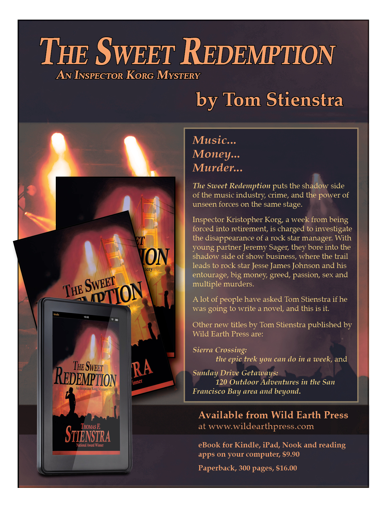 The Sweet Redemption Mystery Novel Tom Stienstra
