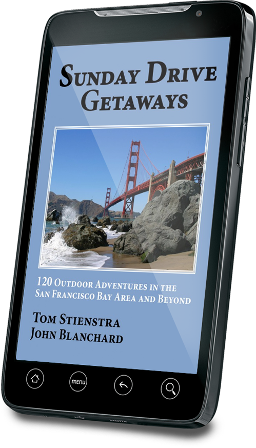 Sunday Getaways eBook on smart phone